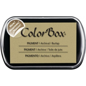 ColorBox® Full Size Pigment Ink Pad Burlap; Color: Brown; Format: Pad; Ink Type: Pigment; Shape: Full Size Rectangle; (model CS15225), price per each