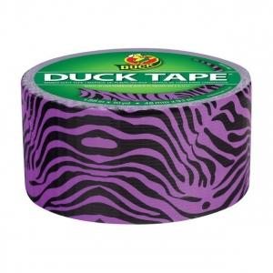 Duck Tape® Purple Zebra Tape (Roll); Color: Multi; Format: Roll; Size: 10 yd; Type: Pattern; (model DT281517), price per each