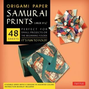 "Tuttle 8.25"" Origami Paper Samurai Prints: Sheet, 8 1/4"", Origami, (model T843461), price per pack"