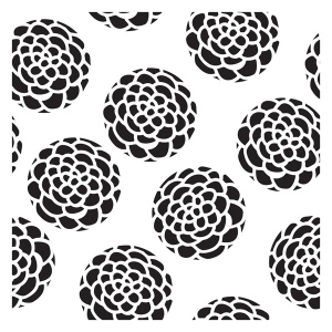"The Crafter's Workshop 12"" x 12"" Design Template Scallop Flower: 12"" x 12"", Patterned Stencil, (model TCW366), price per each"