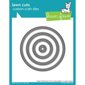 Lawn Fawn - Lawn Cuts - Small Stitched Circle Stackables Dies