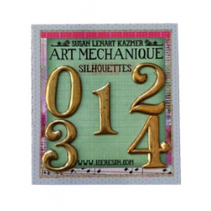 Ranger - ICE Resin - Art Mechanique Brass Silhouette Blanks - Numerals 0 - 4 - 5 Pieces