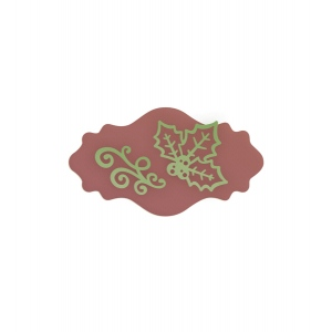 Couture Creations - Christmas Eve - Christmas Label 3 Pc Die Set