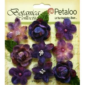 Petaloo - Vintage Velvet Minis x 9 - Purple