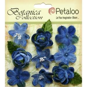 Petaloo - Vintage Velvet Minis x 9 - Blue