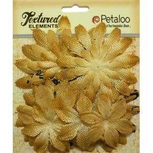 Petaloo - Daisy layers x 15 - Antique Gold