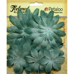 Petaloo - Daisy layers x 15 - Antique Blue