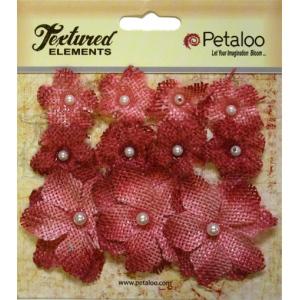 Petaloo - Mini Burlap x 11 - Antique Red