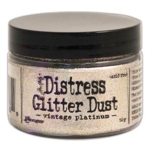 Tim Holtz - Distress - Glitter Dust - Vintage Platinum
