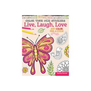 Design Originals - Color Your Own Stickers Live, Laugh, Love Coloring Book