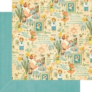 Graphic 45 - Children's Hour - April Montage 12x12 Paper