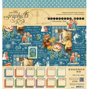 Graphic 45 - Children's Hour - 8x8 Calendar Pad