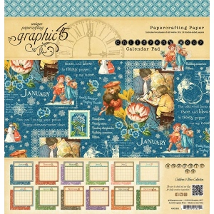 Graphic 45 - Children's Hour - 12x12 Calendar Pad