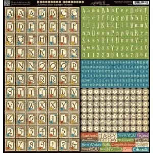 Graphic 45 - Children's Hour - Alphabet Stickers