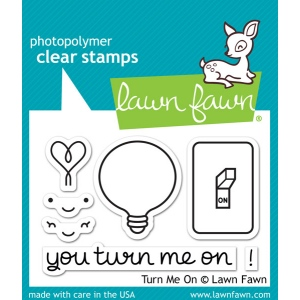 Lawn Fawn - Turn Me On Stamp Set