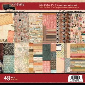 7Gypsies - Paper Pad - Ordre Du Jour - 8x8