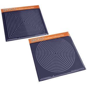 Claritystamp - Square & Circular Framer Plates Groovi Plates Set