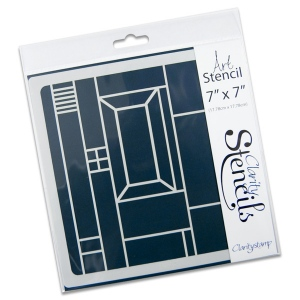 Claritystamp - Abstract Square 1 Stencil 7x7 Inches