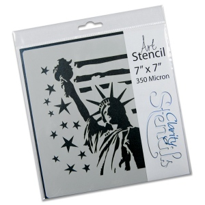 Claritystamp - Liberty Stencil 7x7 Inches