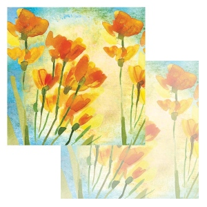 Ken Oliver - Watercolor Florals - Watercolor Freesia 12x12 Paper