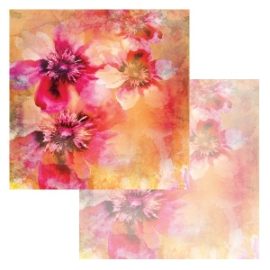 Ken Oliver - Watercolor Florals - Water Color Apple Blossoms 12x12 Paper