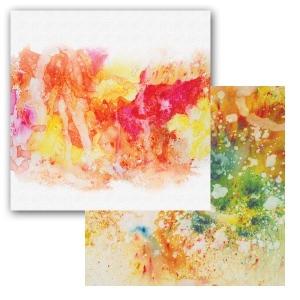 Ken Oliver - Color Burst Splash - Swoosh 12x12 Paper