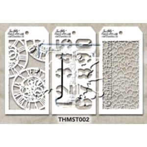 Stampers Anonymous - Tim Holtz - Stencil - Mini Stencil Set #2