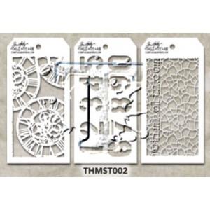 Stampers Anonymous - Tim Holtz - Stencil - Mini Stencil Set #2