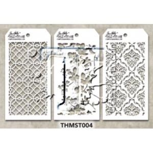 Stampers Anonymous - Tim Holtz - Stencil - Mini Stencil Set #4