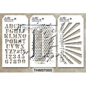 Stampers Anonymous - Tim Holtz - Stencil - Mini Stencil Set #5