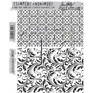 Stampers Anonymous - Tim Holtz - Lattice & Flourish Stamps