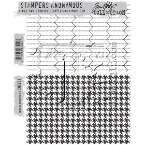 Stampers Anonymous - Tim Holtz - Tailor & Houndstooth Stamps