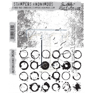 Stampers Anonymous - Tim Holtz - Halftone & Rings Stamps