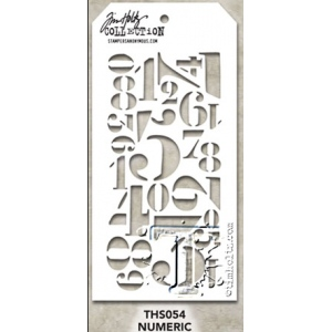 Stampers Anonymous - Tim Holtz - Numeric Stamps
