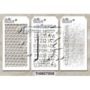 Stampers Anonymous - Tim Holtz - Stencil - Mini Stencil Set #8