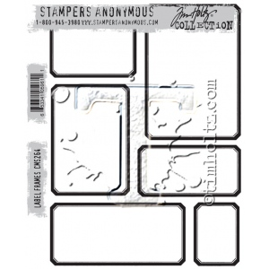 Stampers Anonymous - Tim Holtz - Label Frames Stamps
