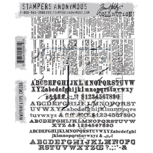 Stampers Anonymous - Tim Holtz - Newsprint & Type Stamps