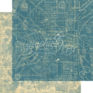 Graphic 45 - Cityscapes - Map the Past 12x12 Paper
