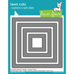 Lawn Fawn - Lawn Cuts - Stitched Square Frames Dies