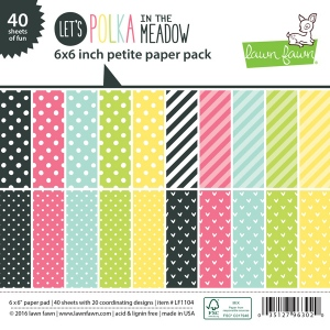 Lawn Fawn - Paper - Let's Polka in the Meadow - Petite Paper Pack