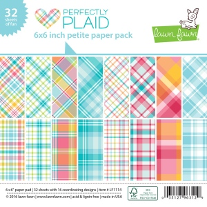 Lawn Fawn - Paper - Perfectly Plaid - Petite Paper Pack