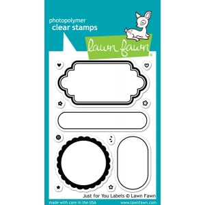 Lawn Fawn - Stamps - Just for You Labels Stamps