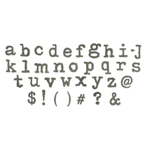 Sizzix - Tim Holtz Alterations - Bigz XL Alphabet Die - Typo Lowercase