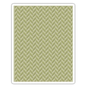 Sizzix - Tim Holtz Alterations - Texture Fades Embossing Folder - Herringbone