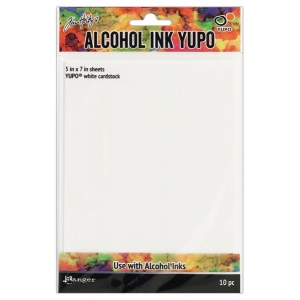 Ranger - Tim Holtz - Alcohol Ink Surfaces - Yupo Paper White - 10 Sheets