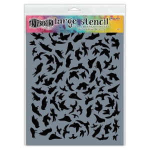 Ranger - Dyan Reaveley - Dylusions - Stencils - Breeze of Birds - Large
