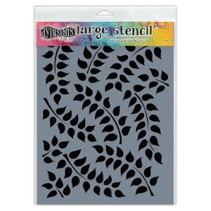 Ranger - Dyan Reaveley - Dylusions - Stencils - Fronds Of Foliage - Large
