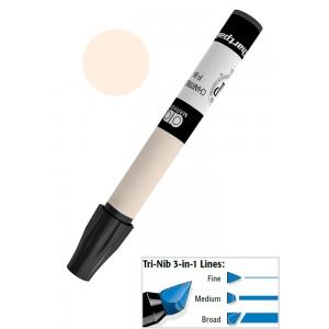 Chartpak® AD™ Art Marker Light Sand; Color: White/Ivory; Ink Type: Xylene-Based; Tip Type: Tri-Nib; (model AP138), price per each
