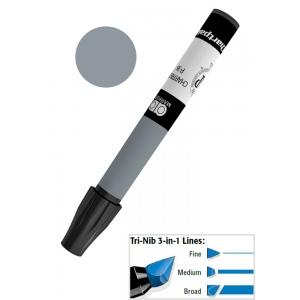 Chartpak® AD™ Art Marker Cool Gray #7; Color: Black/Gray; Ink Type: Xylene-Based; Tip Type: Tri-Nib; (model AP187), price per each