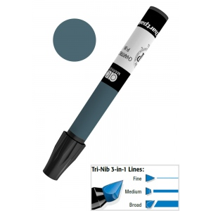 Chartpak® AD™ Art Marker Cool Gray #9: Black/Gray, Xylene-Based, Tri-Nib, (model AP189), price per each